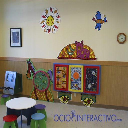 Juegos infantiles en una clinica