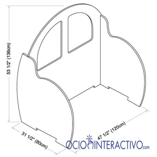 Dimensiones juego volantes con paneles